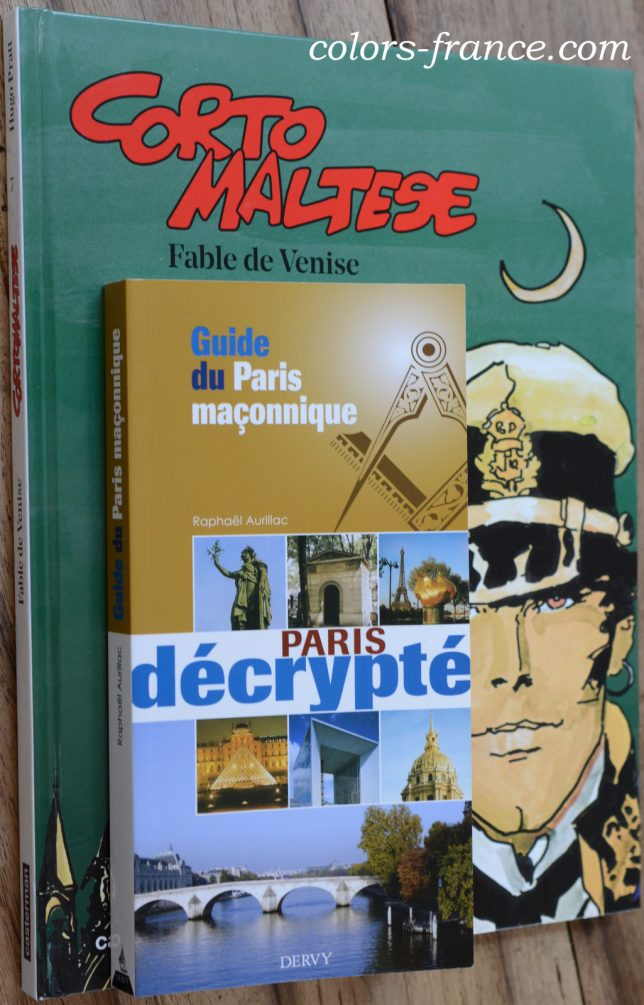 フリーメイソン関連本 Corto Maltese, Fable de Venise, Paris décrypté, Guide du Paris maçonnique