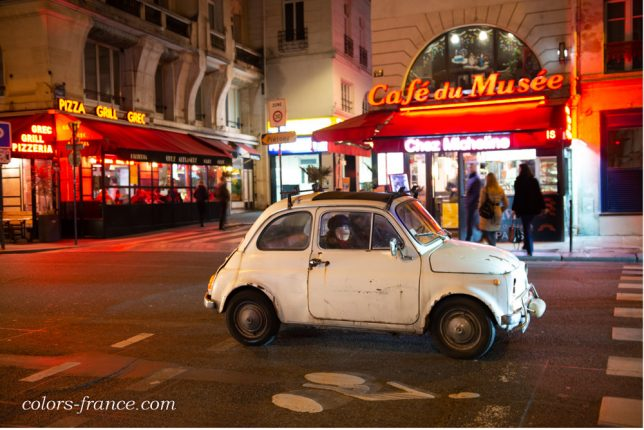 colors-france.com Paris la Nuit Nikon AF-S FX NIKKOR 24-70mm f/2.8G ED nikonD800 フィアット500 fiat500 パリの夜